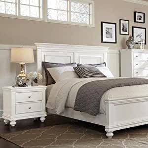 Standard furniture essex white 2 piece panel for Bedroom furniture essex