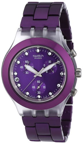 Swatch Ladies Watch Full Blooded Blueberry Chronograph SVCK4048AG