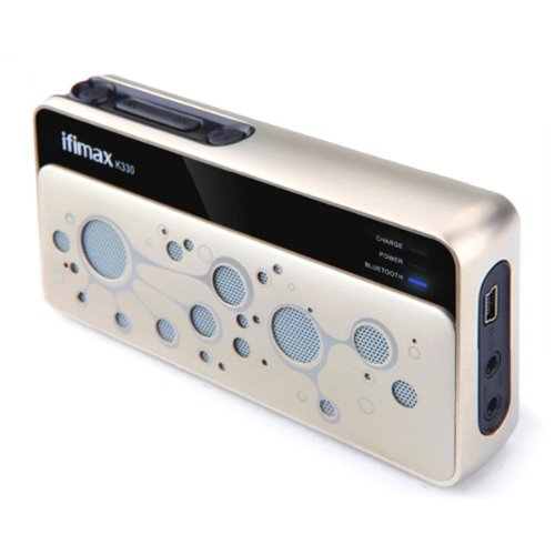 Ifimax K330 Bluetooth Speaker With Card Slot Fm Radio Hands-Free Function¨C White