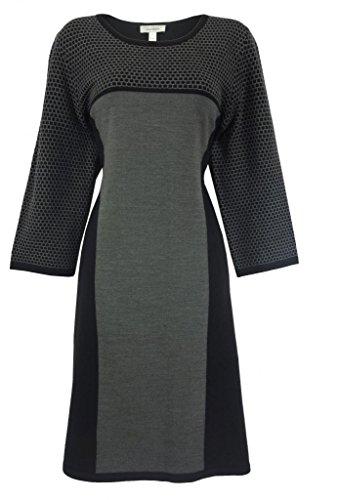 Dressbarn Women'S Plus-Size Colorblock Sweater Dress front-735483