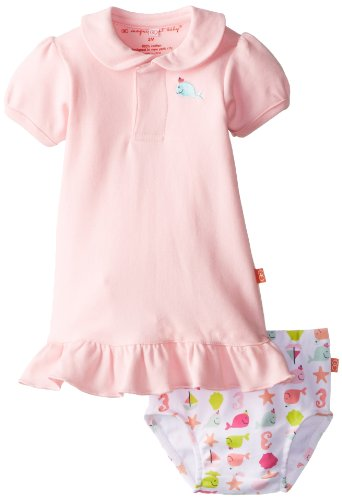 Magnificent Baby Baby-Girls Newborn Nantucket Polo Dress And Diaper Cover, Light Pink, 3 Months front-1047196