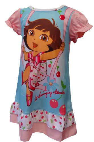 Dora The Explorer Swinging Adventure Toddler Nightgown For Girls (2T) front-1010591