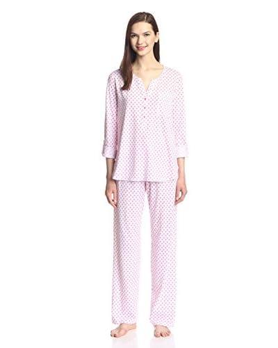 Carole Hochman Graphite Flowers Pajama Set