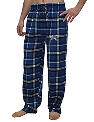 NFL San Diego Chargers MENS Plaid Fall / Winter Pajama Pants