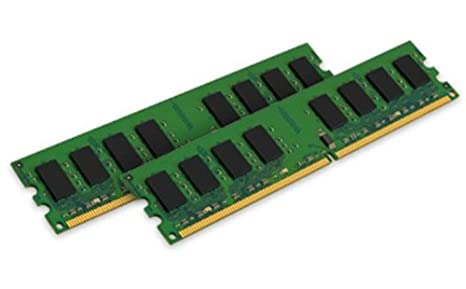 Kingston KVR667D2N5K2/2G Mémoire RAM DDR2 667 2 Go KVR + CL5 Kit2