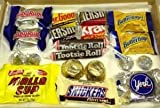 American chocolate sweets box by Dolci Di Lechlade Reese`s Hershey`s Tootsie Snickers Baby Ruth Butterfinger York Kisses