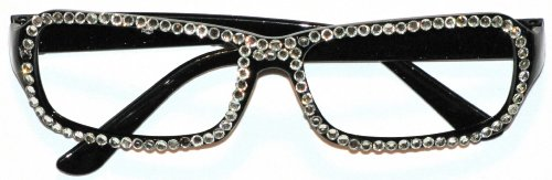 Accessories Fashion Black Frame Glasses With Rhinestones