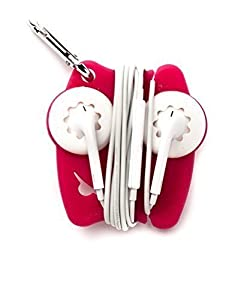 Earbuds holder - tangle free earbuds pink