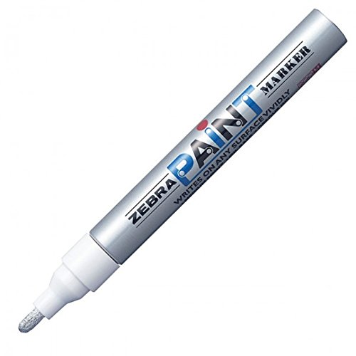 Zebra MOP-200MZ 1.5mm Free Ink System Oil-based Paint Marker - Silver