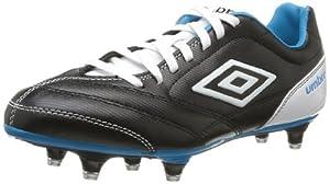 Umbro Turbine Sg, Chaussures de sport homme - Noir (Noir/Blanc/Bleu Electrique), 43 EU,9.5US