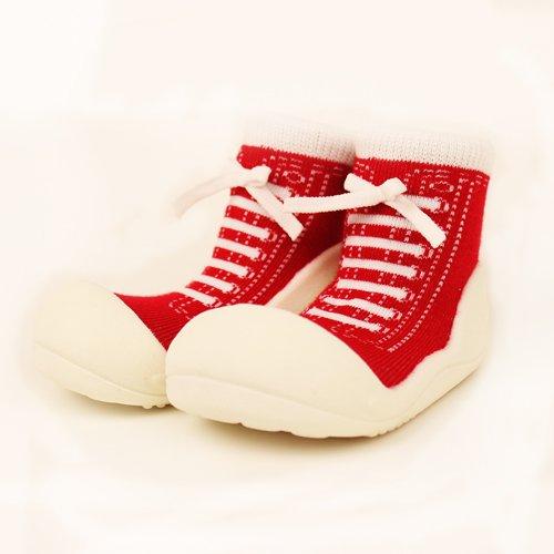 ベビーシューズ Baby feet ベビーフィート ラバー底ソックス SNEAKERS ( 11.5cm , スニーカー Red レッド )