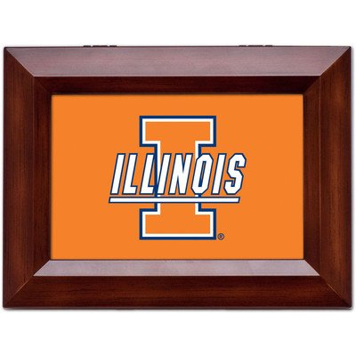 Collegiate Music Jewelry Box Finish: Wood Grain, Ncaa Team: University Of Illinois - I Logo