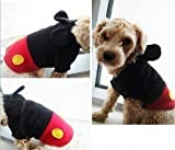 ドッグウェア ミッキー風 犬服 トレーナー ワンちゃんがミッキーマウス風に 【小型犬用~大型兼用】  ネットのOKAMURA (S)