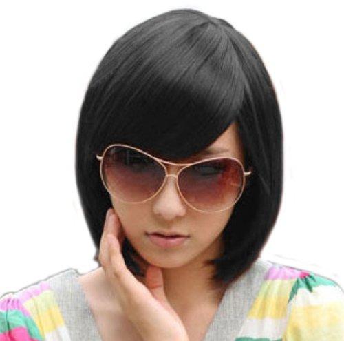 BOB Stylish Mix Short Stright Wig (Model: Jf010332) (Black)