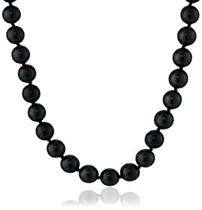 Peacock Black Freshwater Cultured A-Quality Pearl (6.5-7mm) Necklace, 20""