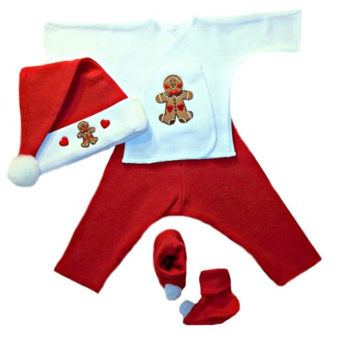 Gingerbread Boy Christmas Baby Clothing Set