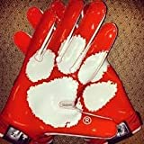 Nike Vapor Jet 2.0 Authentic Game Day Skill Receiver Gloves, Clemson Tigers, Orange White,... by Nike