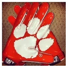 Nike Vapor Jet 2.0 Authentic Game Day Skill Receiver Gloves, Clemson Tigers, Orange... by Nike