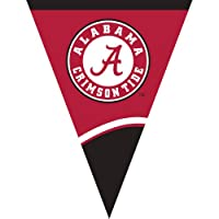 Creative Converting University of Alabama Plastic Flag Banner, 10.5-Feet by Creative Converting