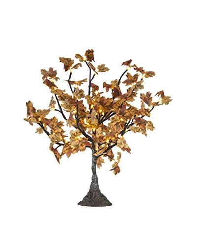 LED Yellow Multi Color Maple Tree, Warm White Bulbs