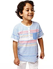 Autograph Pure Cotton Striped T-Shirt