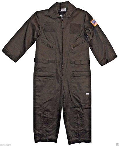 [Kids Military Replica OD Green Flight Suit USCG Patches (X-Large)] (Coast Guard Costumes For Kids)