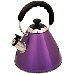 Mr. Coffee Hartleton Tea Kettle, 2-Quart, Purple