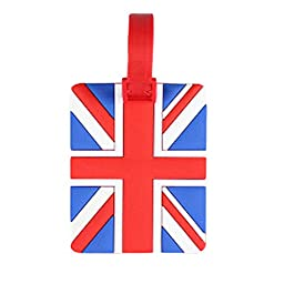 Set of 2 [The Union Jack] Luggage Tags Silicone Baggage Tags Bag Tags(4*2.5\'\')