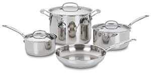 Cuisinart 77-7 Chef's Classic Stainless 7-Piece Cookware Set by Cuisinart