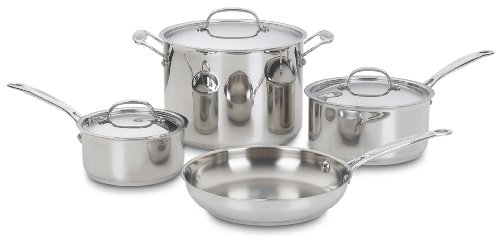 Cuisinart 77-7 Chef's Classic Stainless 7-Piece Cookware Set (Chef Cuisinart compare prices)
