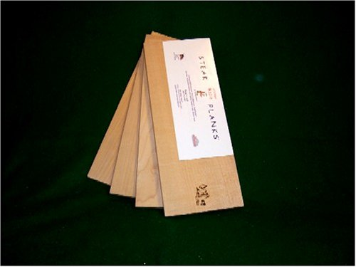 Western Maple Steak Planks 6 X 15 X 1/2 Inch Thick(Pack Of 4)