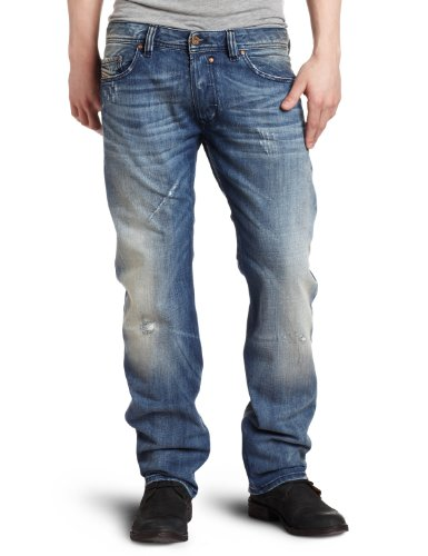 Brand New Diesel Safado 74F Mens Jeans, 0074F, DNA Dirty New Age Collection, Regular Slim Fit Straight Leg (31 x 34)