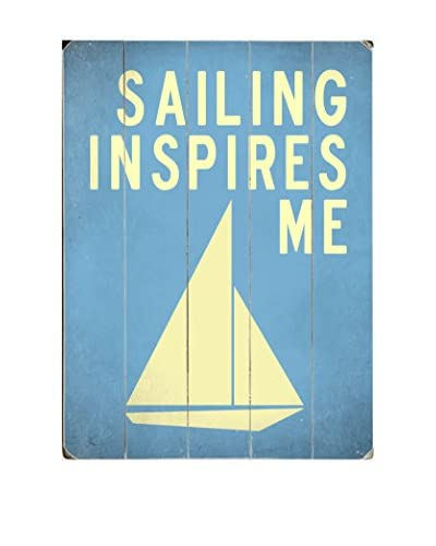 ArteHouse Sailing Inspires Me Wood Wall Decor