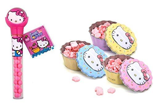 Sweet Cupcakes Candy Tin RANDOM Color Hello Kitty Sweet Bouncers