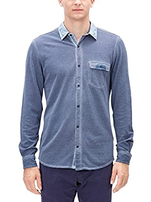 s.Oliver Camisa Hombre (Azul)