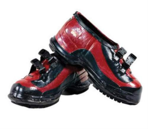 Salisbury Size 9 Red And Black Rubber Overshoes With Bob Outsole