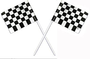 Racing Checkered Flags Cupcake Picks