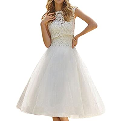 Weixinbuy Womens Elegant Wedding Dresses Lace Gown Wedding Bridal Dress