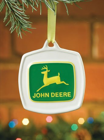 John Deere Christmas Ornament 1968 Vintage Logo #615858