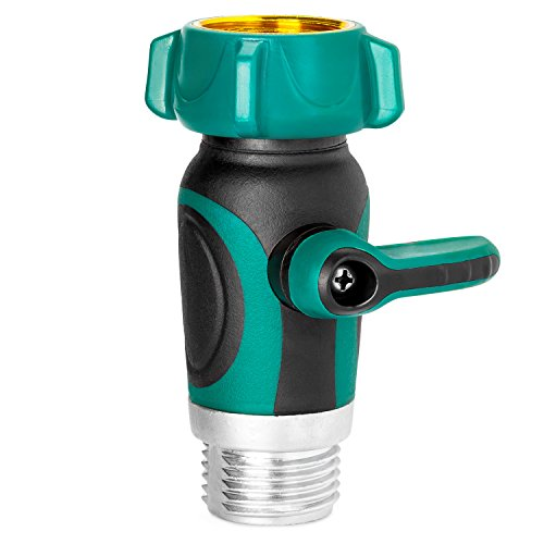 GreenYard Garden Hose to Hose Shut Off Valve | Arthritis Friendly Faucet Extension. Ergonomic, Aesthetic, Highly Durable (Radiator Shut Off Valve compare prices)