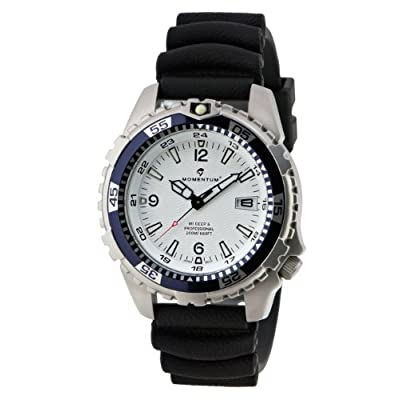Momentum Deep 6 Blue Bezel Polyurethane Dive Men's Watch - 1M-DV06W1B