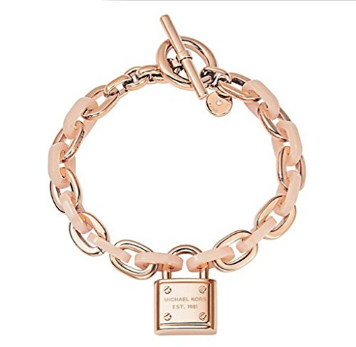 Michael Kors MKJ4326 Rose Gold & Blush Padlock Bracelet