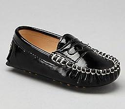 Patent Leather Trumfit Baby Moccasin Newborn Infant Crib Shoe (12-18 Months, Black)