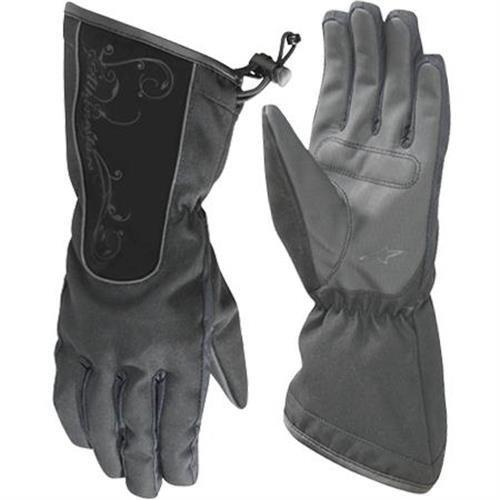 Alpinestars Stella Messenger Drystar Womens Gloves , Distinct Name: Black, Size: XL, Gender: Womens, Primary Color: Black, Apparel Material: Leather 3538711-10-XL by Alpinestars