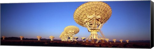 Radio Telescopes In A Field, Very Large Array, Canvas Art Size 27 X 9