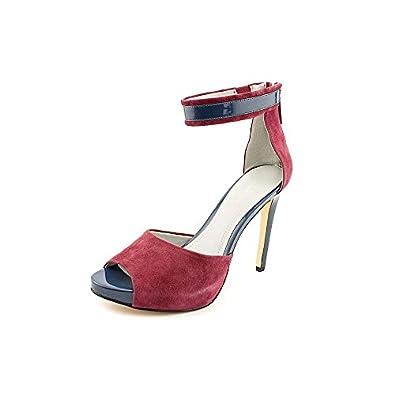 Calvin Klein Kailani Dk Purple Suede/nappa Peep Toe Bootie Women Size 7 M