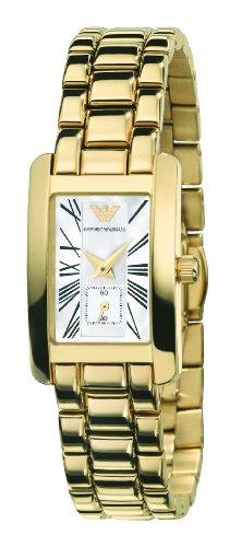 Emporio Armani AR0175 - Reloj para mujeres, correa de acero inoxidable chapado color dorado