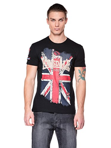 Lonsdale - T-Shirt Trägerhemd Jacob, Maglia a maniche lunghe Uomo, Nero (Schwarz), XX-Large (Taglia Produttore: XX-Large)