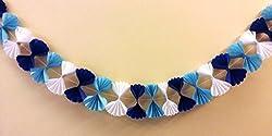 Blue & White Streamer