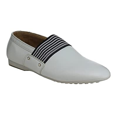 Men's Canvas Casual Slip-on Sneakers Oxfords Fashion Shoes Loafers Sz 6.5-12 (7.5, White 2642)